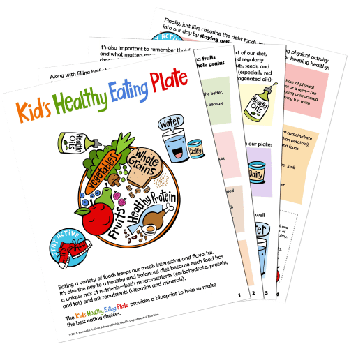 small resolution of Kid's Healthy Eating Plate   The Nutrition Source   Harvard T.H. Chan  School of Public Health