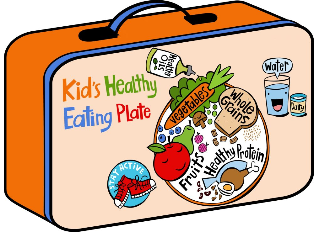 medium resolution of Kid's Healthy Eating Plate   The Nutrition Source   Harvard T.H. Chan  School of Public Health