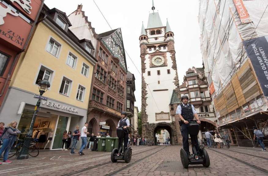 Freiburg is the first city in the state to have a security partnership.  Photo: dpa / Patrick Seeger