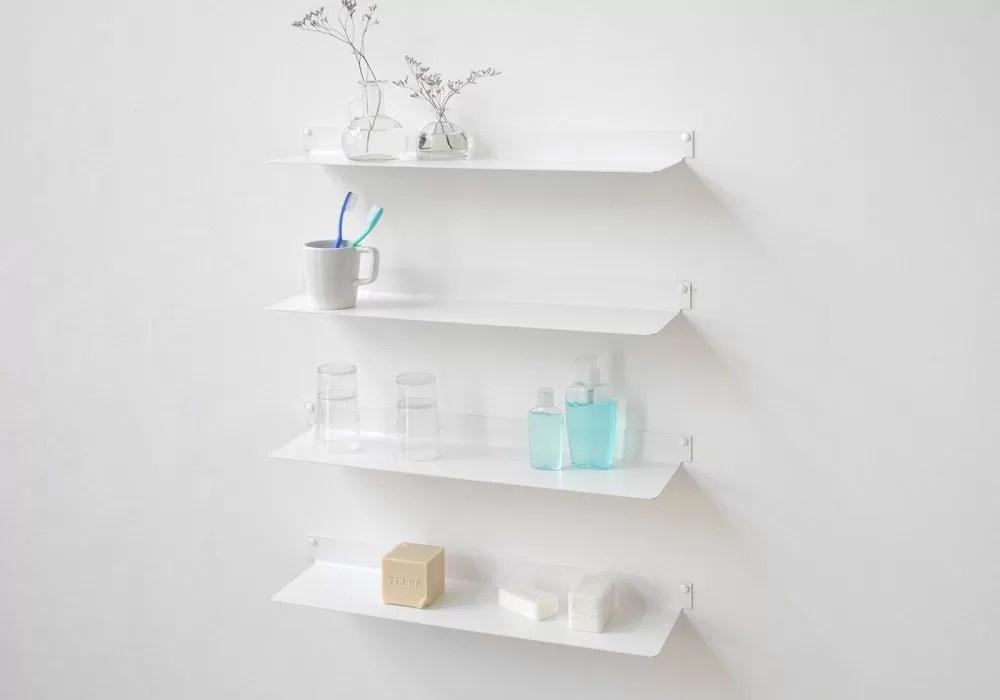 etagere salle de bain 60 cm lot de 4
