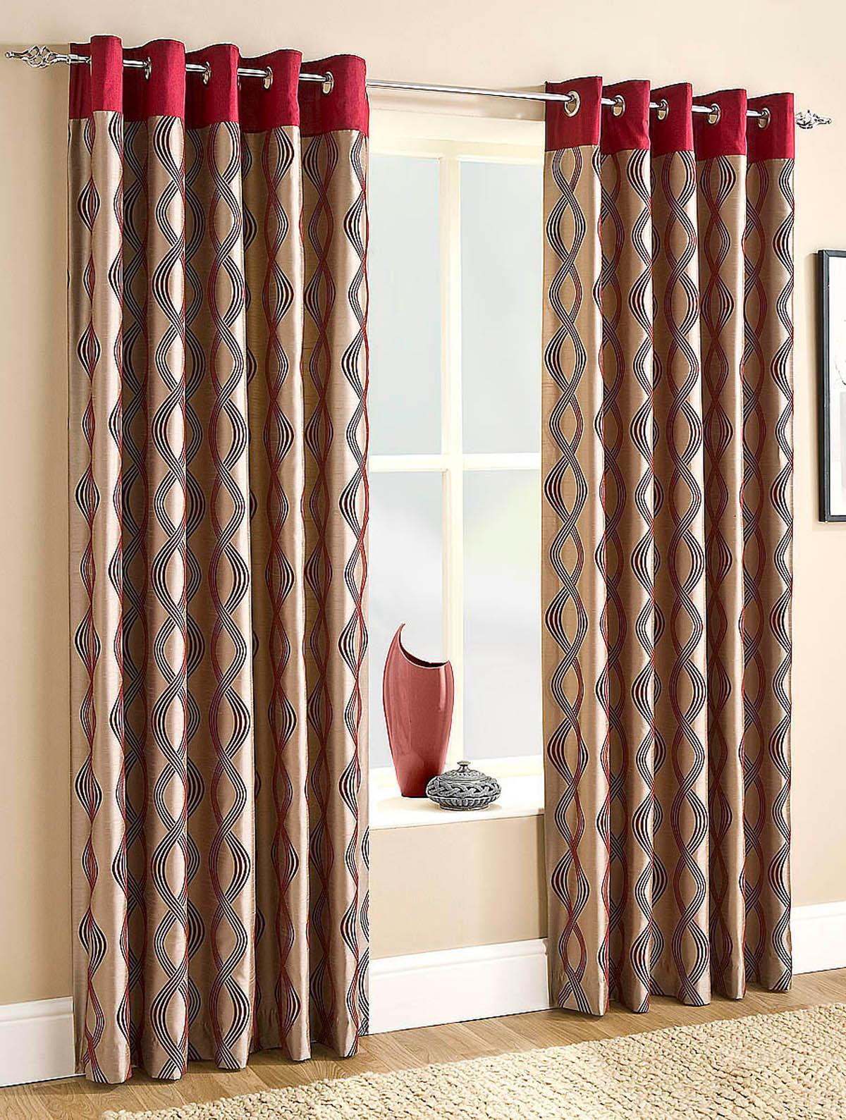 Cheap red curtains - Campania Lined Eyelet Curtains Red Readymade Curtains Uk Delivery