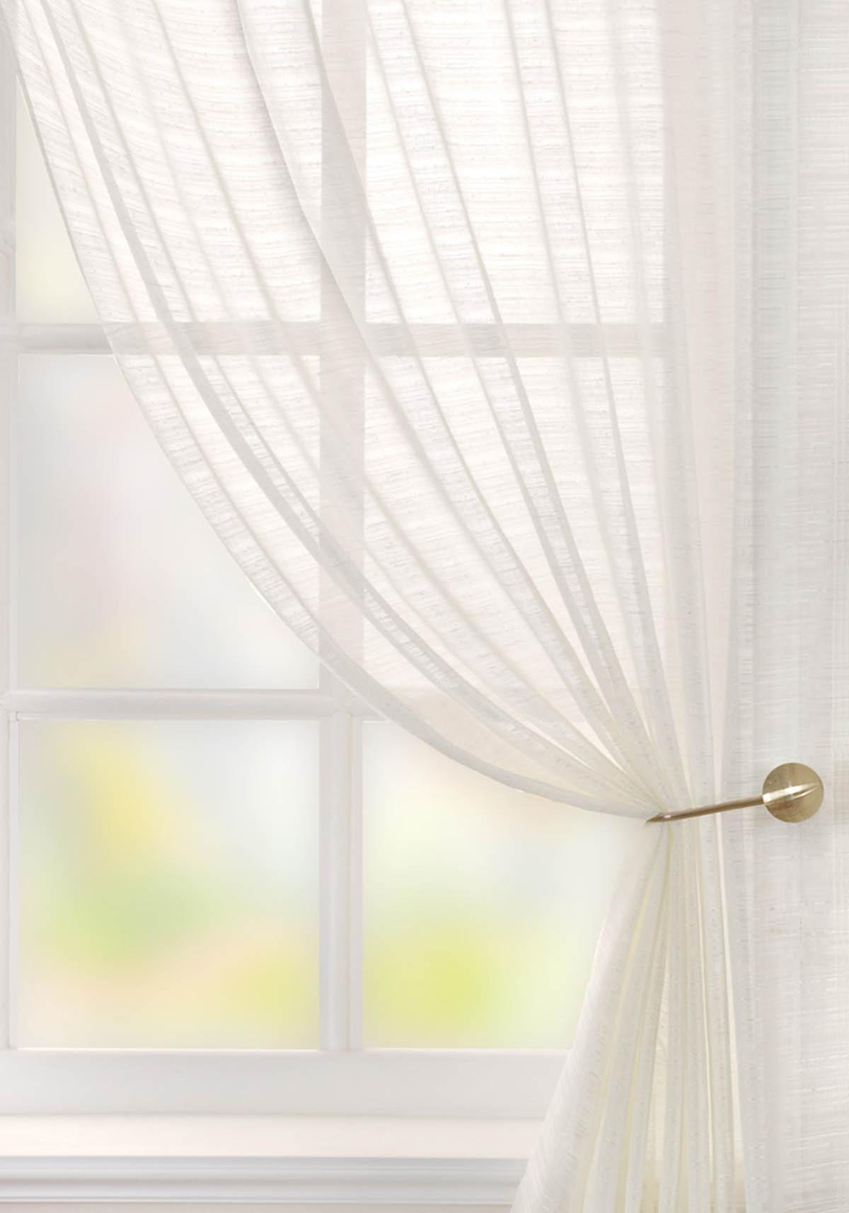 Lucerne Voile Curtain Panel Cream Cheap Green Curtain Voile UK