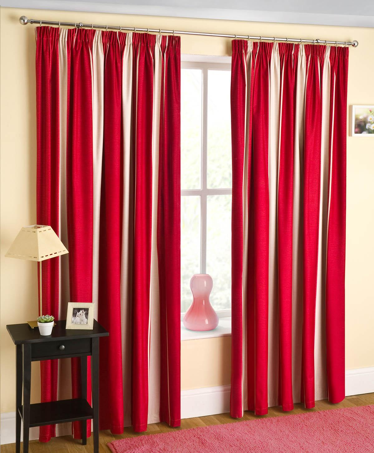 Cheap red curtains - Twilight Ready Made Blackout Curtain Red Luxury Headed Curtains