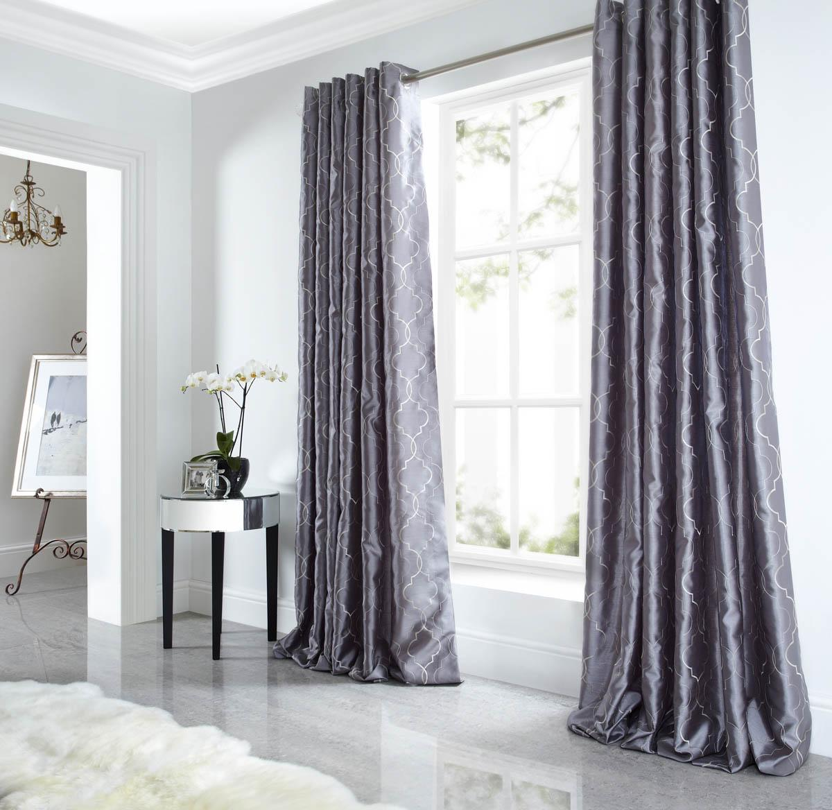 Silver Eyelet Curtains Cheap And Affordable Curtains Terrys