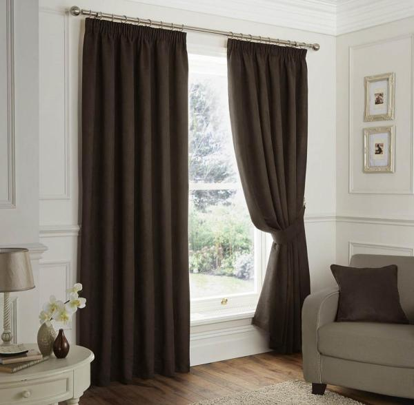 Faux Suede Ready Lined Curtains Free Uk Delivery