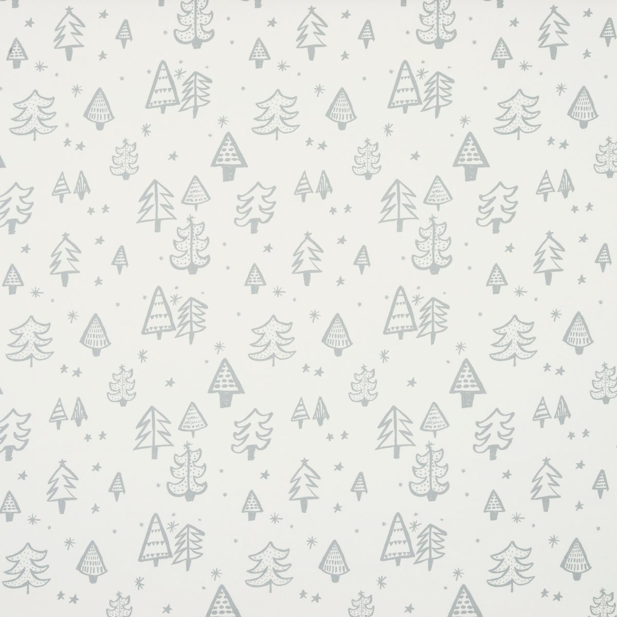 Christmas Tree Curtainfabric In Silver