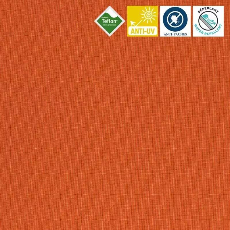 toile exterieure teflon grande largeur orange