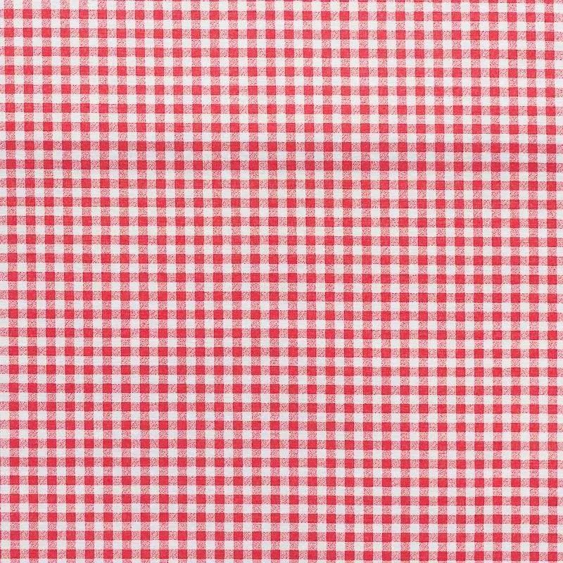 Tissu Enduit Vichy Rouge 6mm Pas Cher Tissus Price