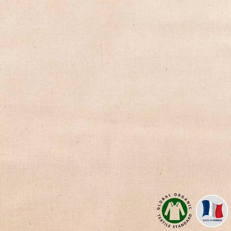 flanelle de coton bio naturelle grande largeur