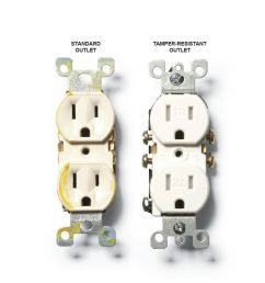 a standard outlet and a tamper resistant outlet construction pro tips [ 1000 x 1000 Pixel ]