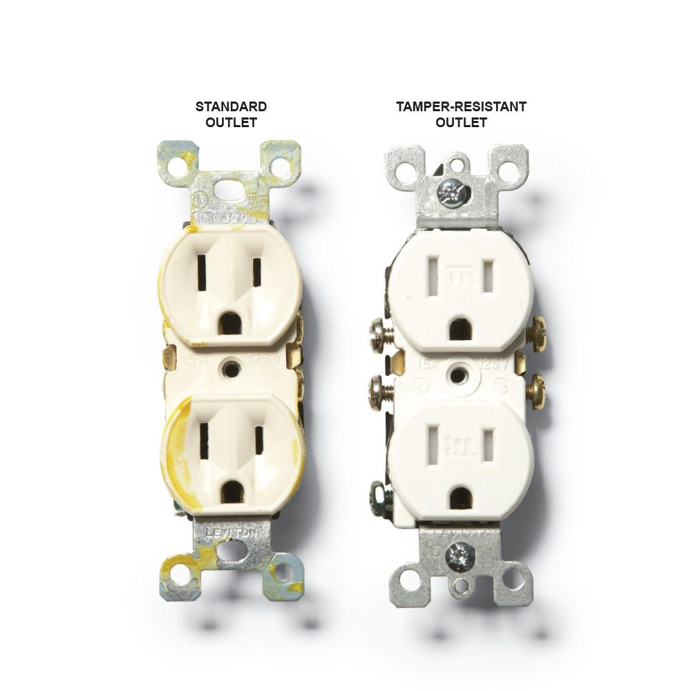 hight resolution of a standard outlet and a tamper resistant outlet construction pro tips