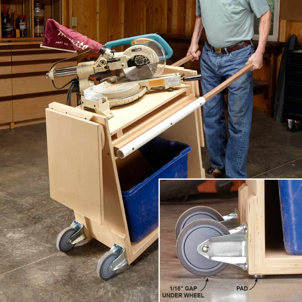 Easy Table Saw Caster Wheels