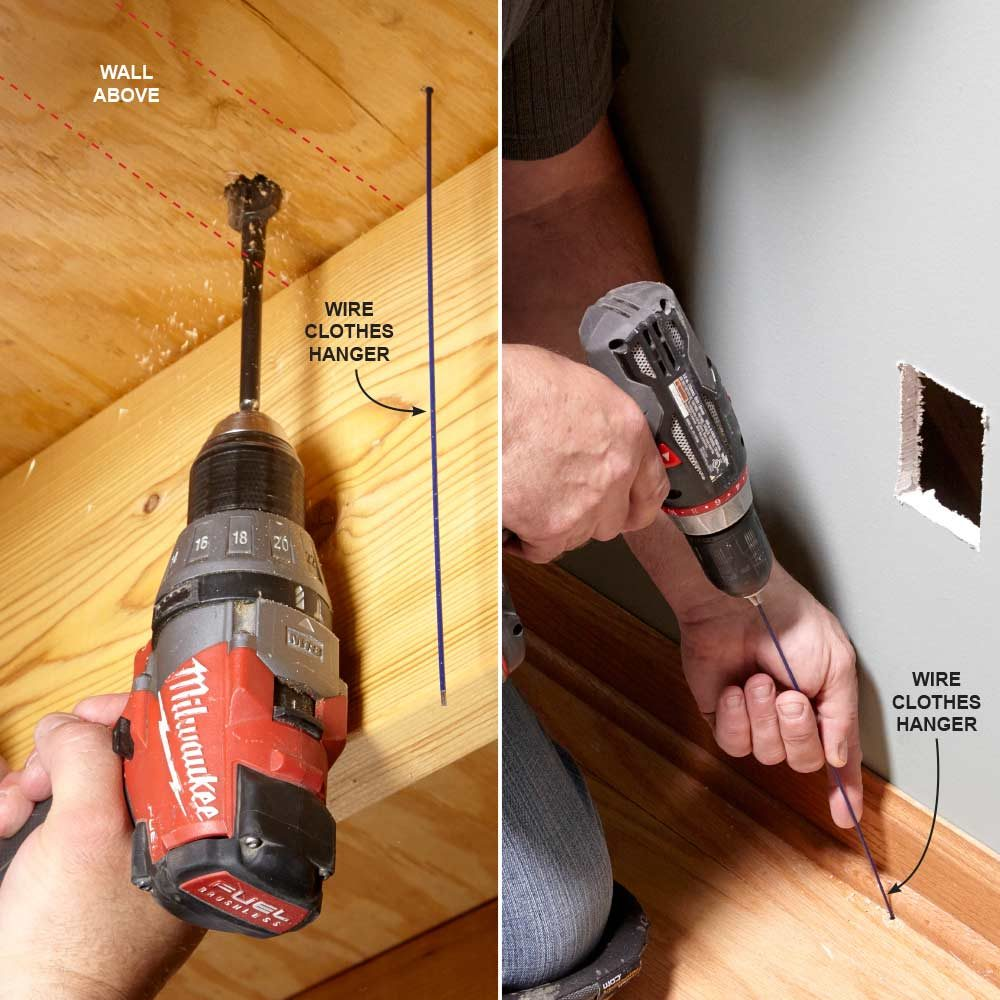 hight resolution of finding a wall cavity with a clothes hanger construction pro tips