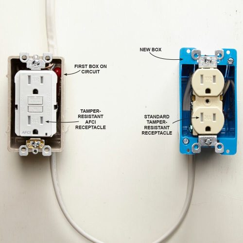 small resolution of install an afci receptacle at the source newer electrical