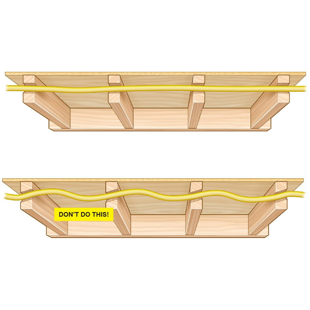 medium resolution of diagram showing holes drilled straight in a line construction pro tips