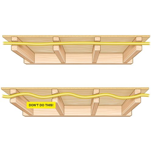 small resolution of diagram showing holes drilled straight in a line construction pro tips
