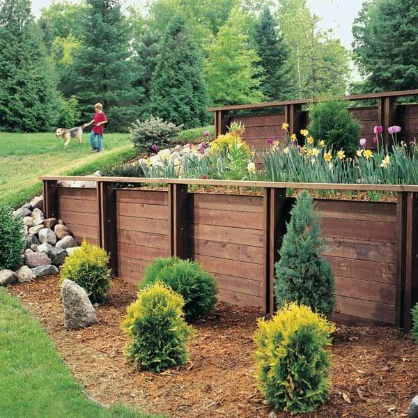 build treated wood retaining