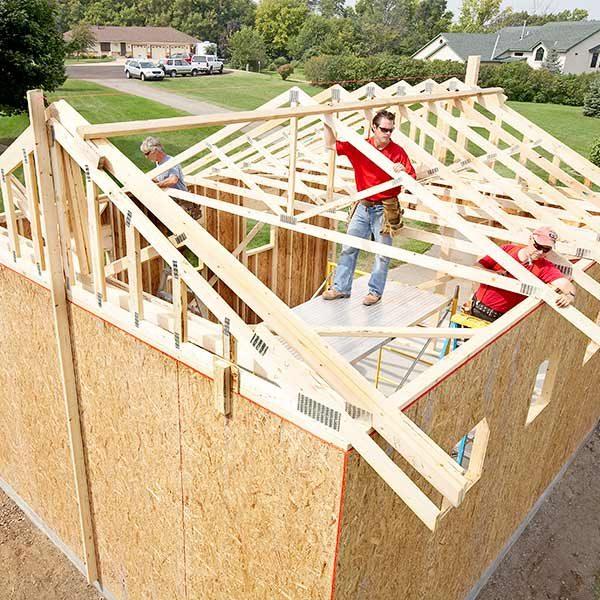 Framing A Garage The Family Handyman