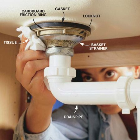 How to Replace a Kitchen Sink Basket Strainer  The Family