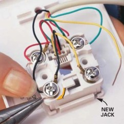 T568b Color Diagram Morris Minor Wiring Replace A Phone Jack | The Family Handyman