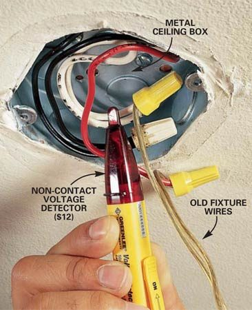 ceiling fan pull chain switch wiring diagram whirlpool microwave hood how to hang a light fixture | the family handyman