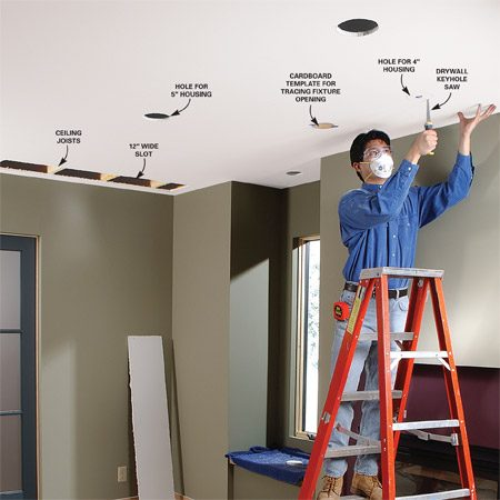 multiple pot light wiring diagram loop vent how to install recessed lighting for dramatic effect | the family handyman