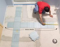 Install a Ceramic Tile Floor In the Bathroom | The Family ...