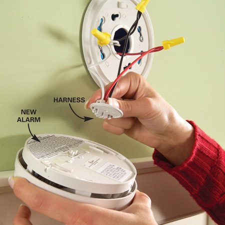 mains powered smoke alarm wiring diagram 2005 kia sedona install new hard-wired or battery-powered alarms | the family handyman