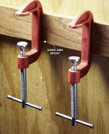 Clamp Storage Diy coat hooks from old tools and hardware the family ...