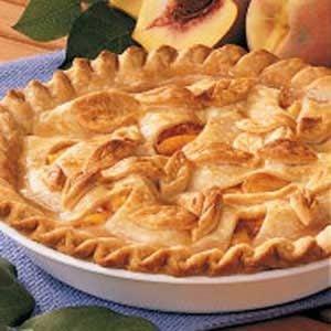Golden Peach Pie Recipe