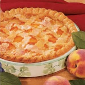 Peaches 'N' Cream Pie Recipe