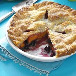 Peach Blueberry Pie Recipe