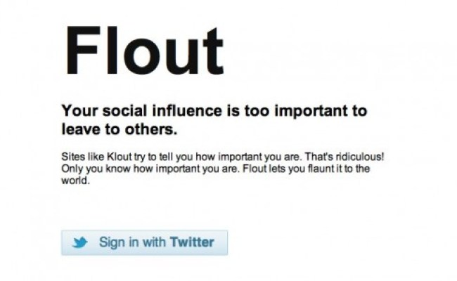 Flout Makes Fun Of Social Influencer Site Klout