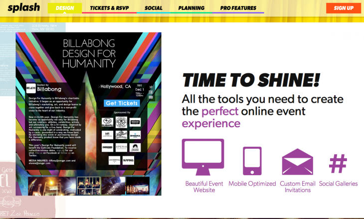 Splash 730x439 10 Web apps to help you plan and promote a great event