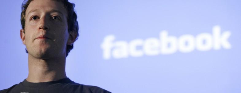 Mark Zuckerberg, CEO of Facebook, makes