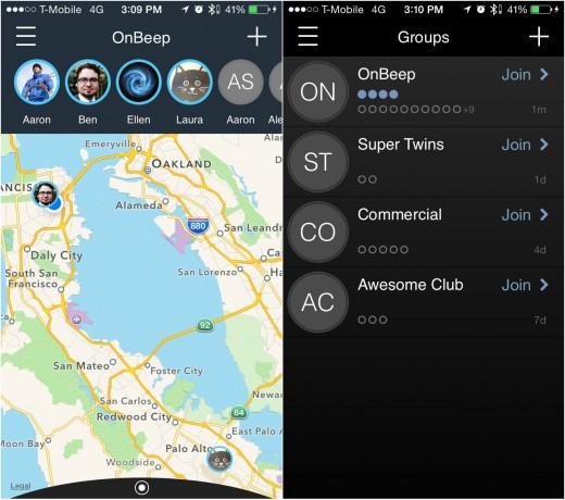 OnyxApp 520x460 OnBeeps Onyx is a wearable walkie talkie