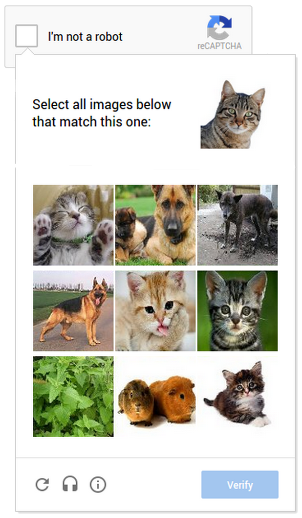cat captcha Meet Googles ambitious new CAPTCHA that makes it easier to prove youre human