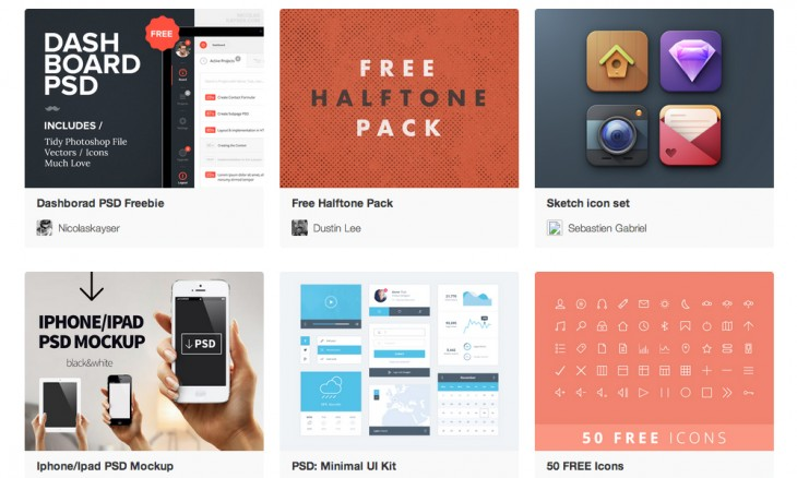 fribbble 730x438 40 free resources every designer should know