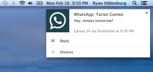 notification 520x245 PushBullet for Android now lets you respond to WhatsApp, Google Hangouts and more from your desktop