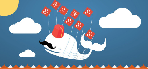 The Fail Whale in a beautiful Google + Twitter dream by @napilopez