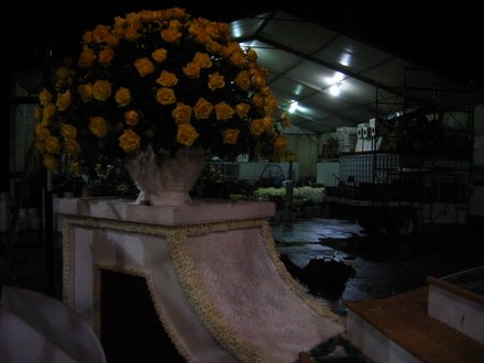 A close-up of the Trojans' 2006 Rose Bowl float