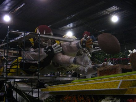 The ESPN float for the 2006 Rose Parade