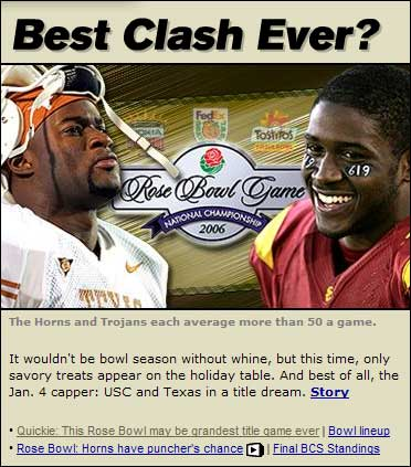 USC vs. Texas -- Best Game Ever?