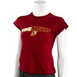 USC Trojans Cardinal Ladies Sheer T-Shirt