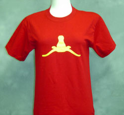 Upside-down Longhorn ladies t-shirt