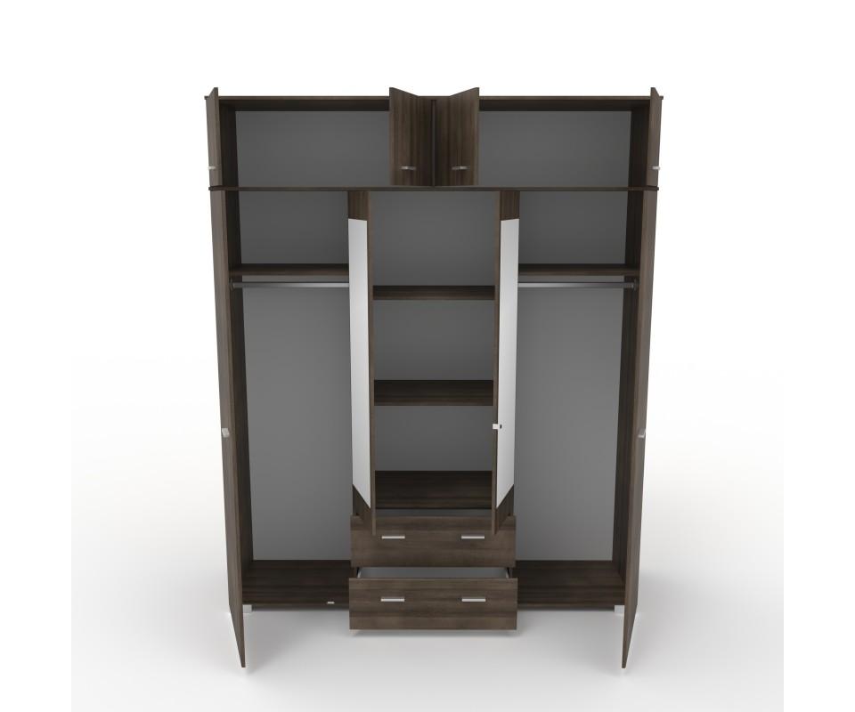 Comprar Armario cuatro puertas con espejo y altillo Alax