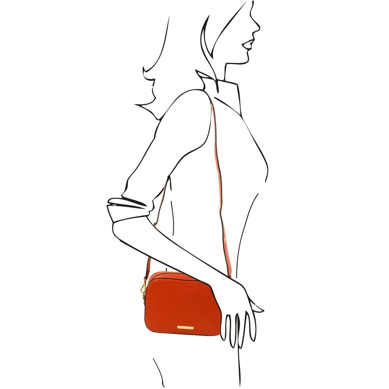 TL Bag Leather Shoulder bag Brandy TL141733