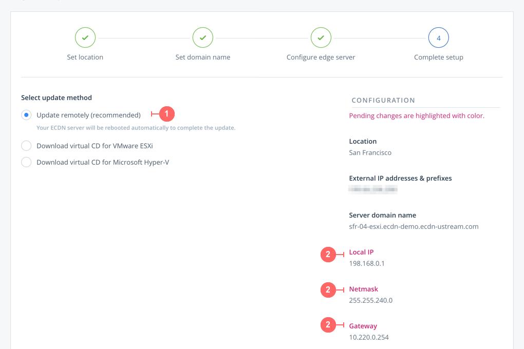 How to configure an ECDN server