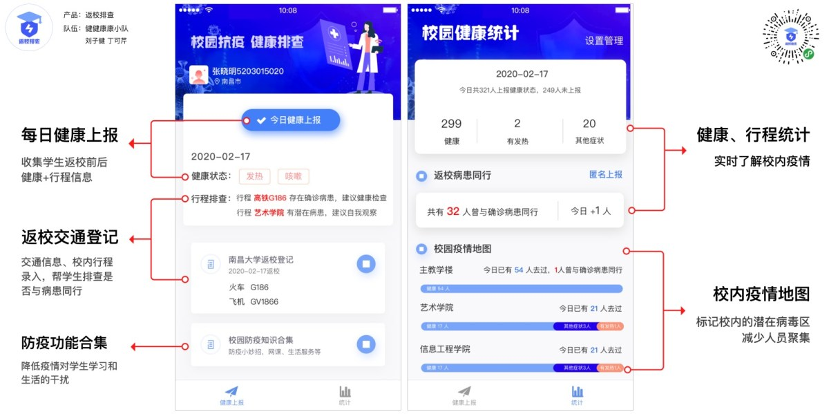 Schermata illustrativa del mini-program