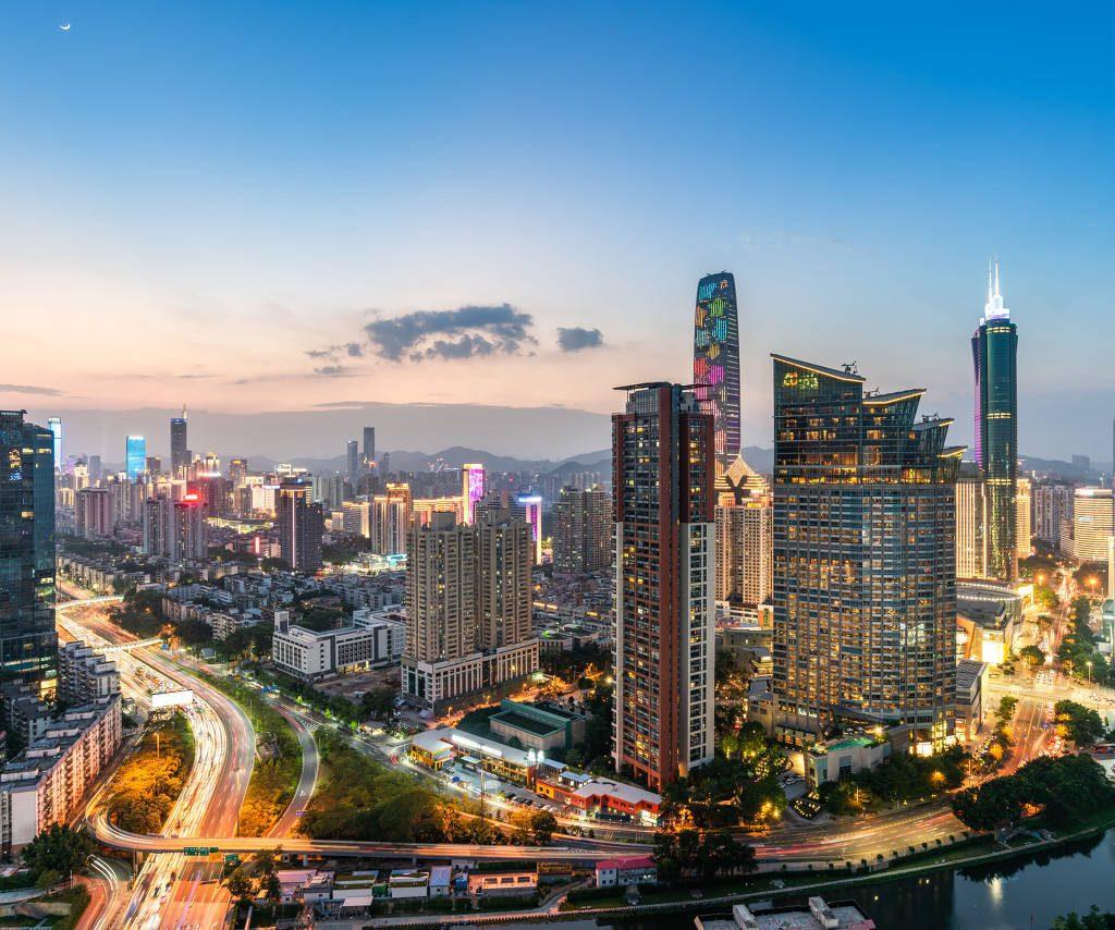 Foto della città di Shenzhen in Cina